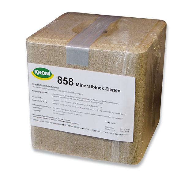 KRONI 858 Mineralblock Ziegen