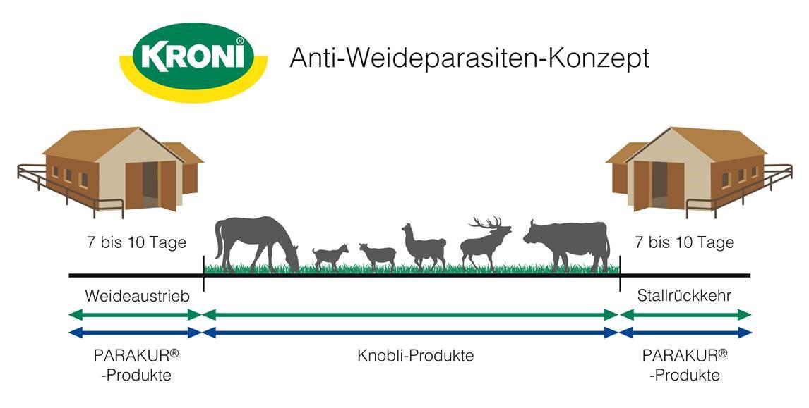 Anti-Weideparasiten-Konzept